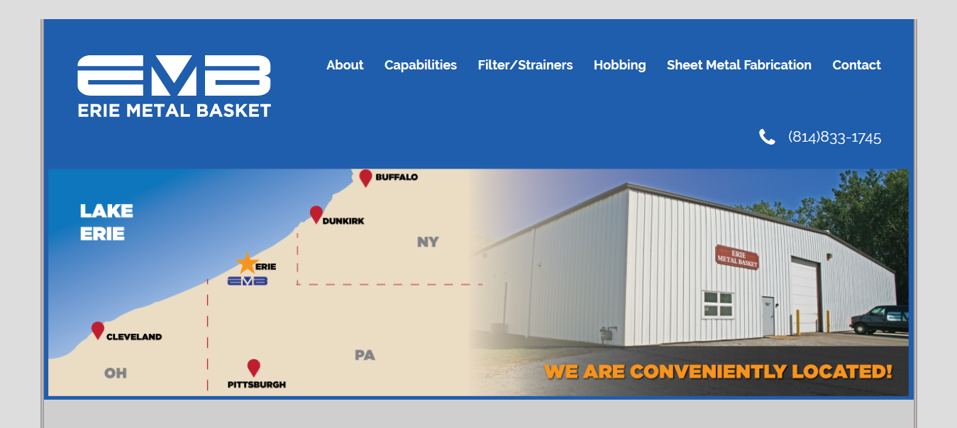 Manufacturing Company Website Design Erie Pa