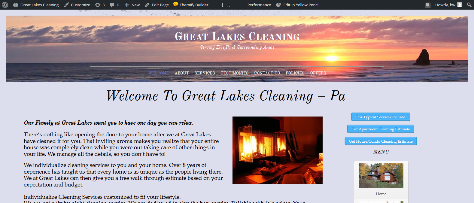 Cleaning Company Website Design Erie Pa
