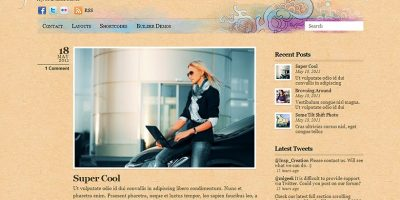 Free Website Theme used by an Erie Web Designer