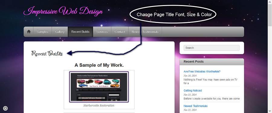 Change Page Title Font, Size & Color-70