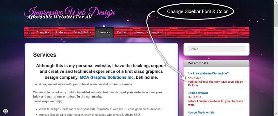 Change Sidebar Font Color & Size-70