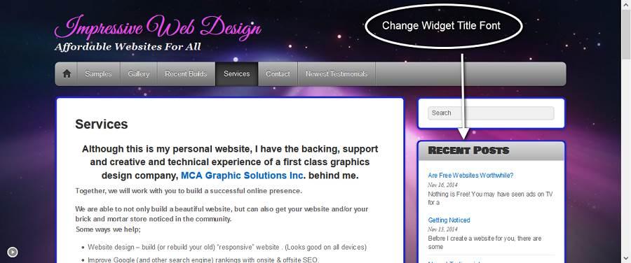 Change Widget Font-70