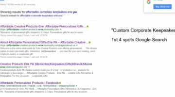 1st 4 spots Google Search