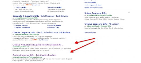 1st 2nd Spots in Bing Search 1