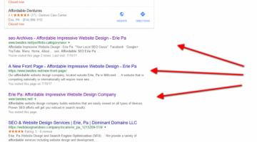 1st 3 spots Google Search