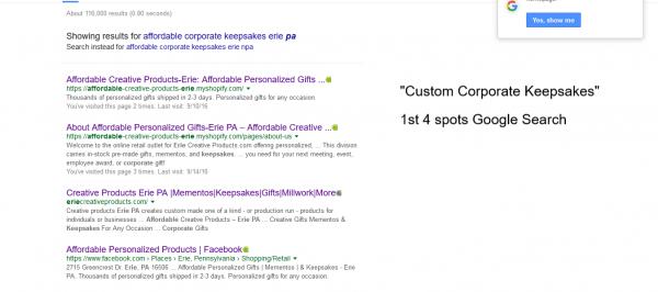 1st 4 spots Google Search 2